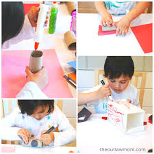 easy homemade play town using upcycled materialsthe outlaw mom