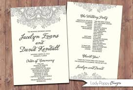 Wedding Program Fans Diy Romantic Lace Jacelyn Wedding Program Fans Diy Program Custom