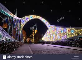 wroclaw poland 12th december 2017 wroclaw city special lights