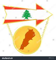 Map Of Lebanon Vector Gold Index Map Lebanon Stock Vector 65033932 Shutterstock