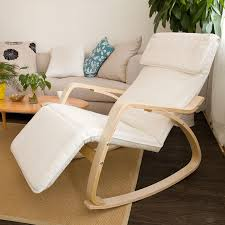 White Lounge Chair Design Ideas Sobuy Comfortable Relax Rocking Chair With Foot Rest