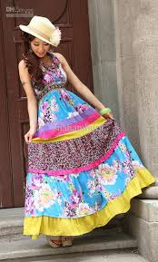 colorful dress 2012 classical bohemian colorful dress fashion cotton