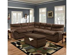Upholstered Sectional Sofas Simmons Upholstery 9515 Casual Sectional Sofa Dunk Bright