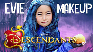 disney descendants evie makeup look tutorial transformation for