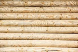 log wall of yellow pine stock photo colourbox