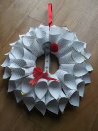 classic paper cone christmas wreath for sale on etsy now