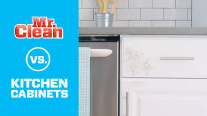 What Can I Use To Clean Grease Off Kitchen Cabinets The Best Way To Clean Kitchen Cabinets Mr Clean Youtube