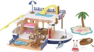 Calico Critters Play Table by Seaside Cruiser Houseboat Calico Critters