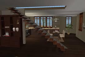 Urban Loft Style - modern urban loft style view into kitchen virtual home décor