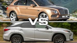 bentley sport 2016 2016 bentley bentayga vs 2016 lexus rx 450h f sport youtube