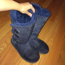 ugg bailey bow navy blue sale 87 ugg boots sale navy bailey button triplet from