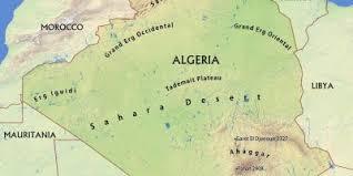 algeria physical map algeria map maps algeria northern africa africa