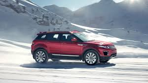 land rover snow range rover evoque