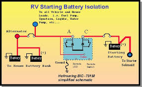 rv battery isolator wiring diagram rv wiring diagrams instruction