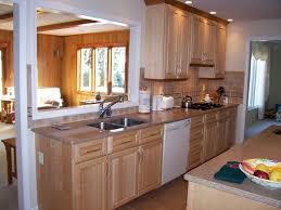 kitchen natural maple kitchen cabinets white appliances natural