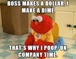 Potty Training Memes - potty training elmo has a poor work ethic meme on imgur