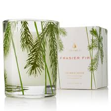thymes frasier fir votive candle fresh scent