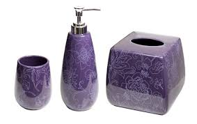 Purple And Grey Bathroom Cool Purple Bathroom Accessories About Home Remodeling Ideas With