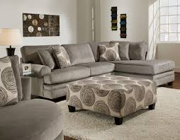 Patterned Living Room Chairs by Light Gray Velvet Sectional Sofa Combined With Patterned