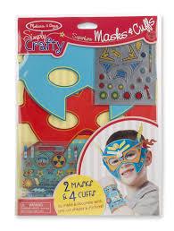 amazon com melissa u0026 doug simply crafty superhero masks and cuffs