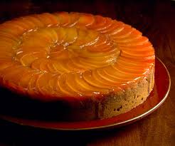 upside down quince and honey spice cake finecooking