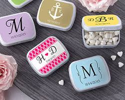 mint to be favors personalized white mint tins wedding favors by kate aspen