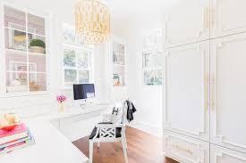 Desk Blanket Rosenheck L Shaped Floating Desk With Glass Cabinets