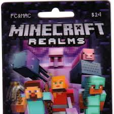 minecraft cards minecraft realms subscription card other gift cards gameflip