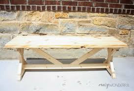 Ana White Farmhouse Bench Diy Bench And My Finished Entry Crazy Wonderful