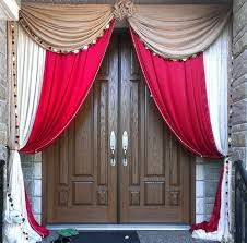 indian wedding house decorations maharani house decor front door draping backdrop in and gold
