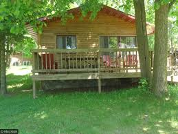 one story log cabins longville hackensack backus minnesota lakefront and waterfront