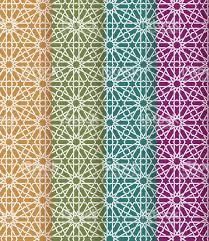 seamless islamic moroccan pattern set arabic geometric ornament