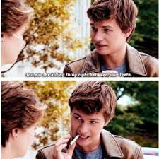 The Fault In Our Stars Meme - ansel elgort explains a metaphor with a cigarette the fault in our