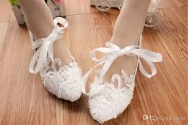 wedding shoes ankle ballet ankle tie wedding shoes bridal lace flats mid heel pumps