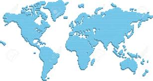 Simple Vector World Map by Map Of World Clipart Collection