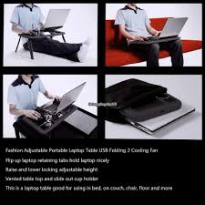 portable notebook laptop lap desk writing bed tray table with