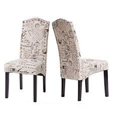 Patterned Dining Chairs Merax Fabric Dining Chairs Script Fabric Accent Chair