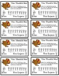 thanksgiving turkey one thankful ten lepers fill in the blank