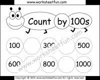 skip counting u2013 count by 100s free printable worksheets