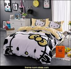 Newsprint Comforter Decorating Theme Bedrooms Maries Manor Hello Kitty Bedding
