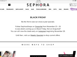 sephora black friday hours black friday 2014 anticipation informa beauty insider community