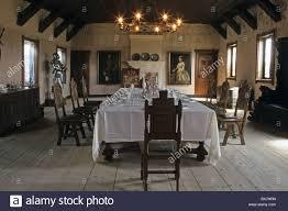 banquet hall burg falkenstein medieval castle harz mountains