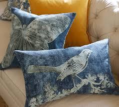 Pottery Barn Kilim Pillow Cover Batik Bird Printed Lumbar Pillow Cover Pottery Barn