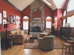 home design decoration living room creative red paint living room ideas design decor