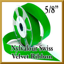 velvet ribbon wholesale wholesale nylvalour swiss velvet ribbon 5 8 inch width in 71 colors