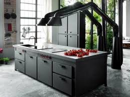 cooking islands for kitchens modern fitted kitchen with cooking island brings home italian