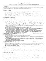 hr resume templates hr resume example sample human resources