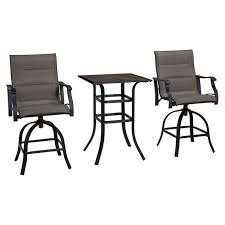3 Piece Patio Furniture Set - malibu bistro 3 piece chair and high table set at home at home