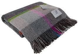 Brown Tartan Rug Bronte By Moon 100 Wool Throw Blanket Tartan Check Spot Made In