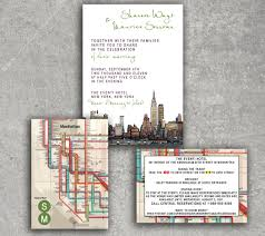 wedding invitations nyc new york empire state subway wedding invitation or save the